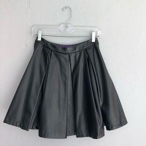 XXI Black pleather circle skirt size XS